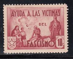 Ayuda A Las Victimas Del Fascismo 10 C Burdeos. (Al.2046) - Viñetas De La Guerra Civil