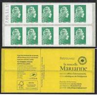 05.11.19 VARIETE ERREUR TEXTE COUVERTURE  Carnet Sagem Marianne L'engagée Daté - Usage Courant