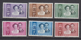Luxemburg 1953 Wedding 6v ** Mnh (50111A) - Unused Stamps
