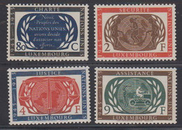 Luxemburg 1955 United Nations 4v * Mh (= Mint, Hinged) (50113) - Unused Stamps