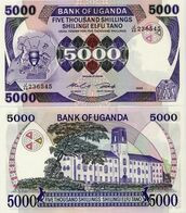 UGANDA 5000 Shillings 1986 P 24b UNC - Oeganda