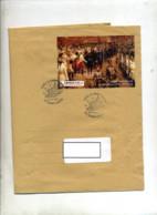 2 Lettres Cachet Saint Louis Noel Sur Bloc Reims Huningue - Gedenkstempel
