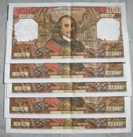 Rare, Suite De 5 Billets Corneille 6-04-1967 C256 (66076 à 66080) - 1962-1997 ''Francs''