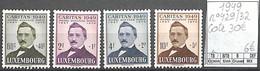 NB - [851620]TB//**/Mnh-c:30e-Luxembourg 1949 - N° 429/32, Michel Rodange, Poètes, Artistes, Arts - Unused Stamps