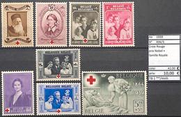 NB - [851662]TB//**/Mnh-c:42e-Belgique 1936 - N° 496/03,  Croix-Rouge, Santé, Prix Nobel, Familles Royales - Croce Rossa