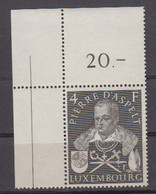 Luxemburg 1953 Pierre D'Aspelt 1v (corner) ** Mnh (50114B) - Unused Stamps