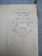 AKTE Van Verdeling  Notaris Te DEYNZE Vrouw  BEATRIX  DE TRaeye  1893  Winkelierster  Te Petegem  Bij Deinze - 1800 – 1899