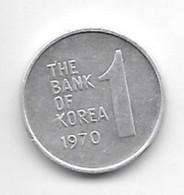 *south Korea 1 Won 1970  Km 4a  Xf - Korea, South