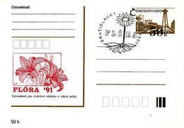 Slovakia, Timbres Occasionnels Flóra Bratislava 1991 - Postal Stationery