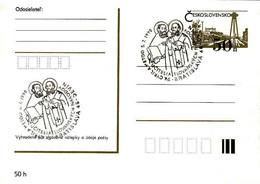 Slovakia, Timbres Occasionnels Cyril A Metod 5.7.1990 Bratislava - Devin - Postal Stationery