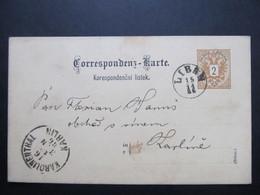 GANZSACHE Liban - Karlin 1886 //  I8369 - Brieven En Documenten