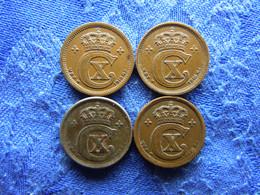 DENMARK 1 ORE 1916, 1916 KM812.1, 1918 IRON KM812.1a, 1919 KM812.2 - Danimarca