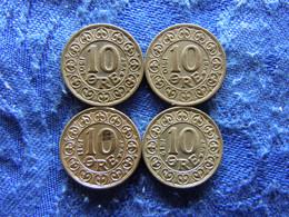 DENMARK 10 ORE 1907, 1910, 1911 Scratched, 1912, KM807 - Danimarca