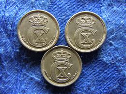 DENMARK 10 ORE 1916, 1918 KM818.1, 1919 KM818.2 - Danimarca