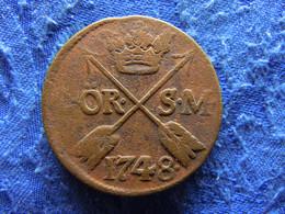 SWEDEN 2 ORE SM. 1748, KM437 Corroded - Suecia