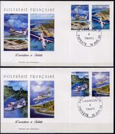 POLYNÉSIE  - FDC 556-559 - L'AVIATION A TAHITI - FDC