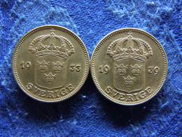 SWEDEN 50 ORE 1933, 1939, KM788 - Suecia
