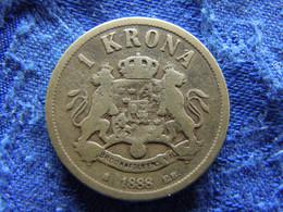 SWEDEN 1 KRONA 1888, KM747 - Suecia