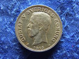 SWEDEN 1 KRONA 1913, KM786.1 Rubbed - Suecia