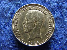 SWEDEN 1 KRONA 1924, KM786.2 Scratched - Suecia