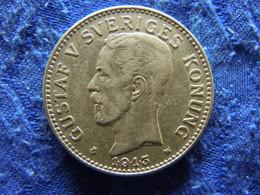 SWEDEN 2 KRONOR 1913, KM787 VF - Suecia