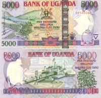 UGANDA 5000 Shillings 2008 P 44c UNC - Oeganda