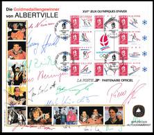 Germany Autogrammbeleg 1992 Albertville Olympic Games - German Gold Medal Winners (H59Hlarge) - Winter 1992: Albertville