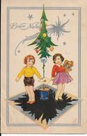 L50C380 - Joyeux Noël - Buon Natale - Dessin D'enfants  Au Pied Du Sapin.. - Cécami N°770 - Natale
