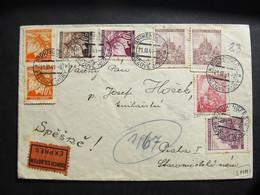 BRIEF Brezove Hory  Birkenberg - Praha Express 1941 //  I8253 - Lettres & Documents