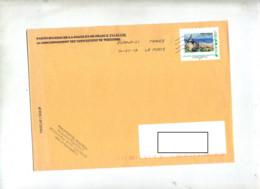 Lettre Flamme Chiffree Sous Code Sur Timbre à Moi Philapostel Theme Moulin - Poststempel (Briefe)