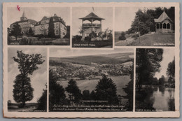 Bad König - S/w Mehrbildkarte 21   Mit Adolf Hitler Turm - Bad Koenig