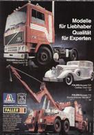 Page De Publicité POCHER ITALERI FALLER 1986 Qualität Für Experten - Catalogues & Prospectus