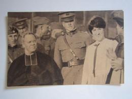 LATRECEY Carte Postale Photo De Presse Guerre 1914-1918 Margaret WILSON En Visite à LATRECEY En Haute-Marne - Autres Communes