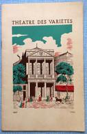 Programme Branquignols Jupon Vole 1954 Théâtre Des Variétés - Programmes