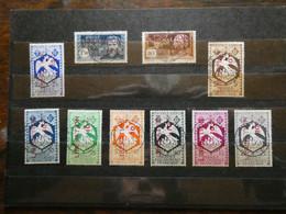 FRANCE Colonies  : AFRIQUE EQUATORIALE AEF  N° 181 à 190 Série Libération Oblitérée Cote 144 € - Gebruikt