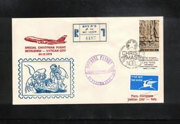 Israel 1979 Special Christmas Flight Betlehem - Vatican City - Israel