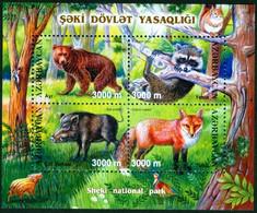 AZERBAIJAN # 766 - SHEKI NATIONAL PARK  WILDLIFE  -  Animals - Bear -fox - 2003 - Azerbaïjan