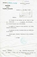 1969 - Diplôme De La Famille Française - Préfecture Des Yvelines - Diploma's En Schoolrapporten
