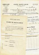 LYCEE SAINT-LOUIS PARIS - Bulletin Scolaire Et Fiche De Renseignements Sur Résultat Du Bac - Diploma's En Schoolrapporten