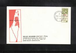 Israel 1983 First Day Of Ma'ale Adummim Post Office Under Military Administration - Israele