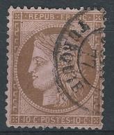 VV-/-465-. N° 58,  Obl. C A D, COTE 10.00 € ,  Voir IMAGE Pour Detail, SCAN DU VERSO SUR DEMANDE - 1871-1875 Ceres