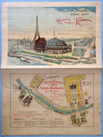 Expositionuniverselle Paris 1900 Menu Restaurant Kammerzell - Menú