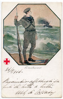 CROCE ROSSA - 8 - VIAGGIATA - Croce Rossa