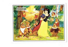 Cpm - Disney - Blanche Neige ET LES 7 NAINS - écureuil Faon Oiseau  N°D470 - WALT DISNEY - 1990 - Autres