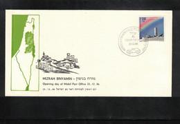 Israel 1986 Opening Day Of Mizrah Binyamin Israeli Mobil Post Office - Israele