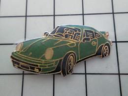 SP18 Pins Pin's / Rare & Belle Qualité THEME AUTOMOBILES / PORSCHE 911 BLEU-VERT - Porsche
