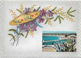 L50C393 - Les Fleurs De La Côte D'Azur  - MC  - Mimosa Gauffré - Souvenir De Nice - Fancy Cards