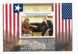 Liberia 2007 Liberia President George W. Bush And Ellen Johnson Sirleaf S/S MNH - Liberia