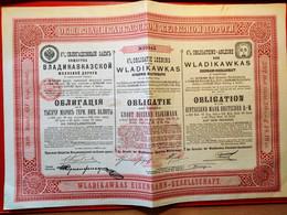 RUSSIE / WLADIKAWKAS EISENBAHN - GESELLSCHAFT 308 Roubles 1895 - Russia