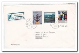 IJsland 1975, Registered Letter To Netherland - 1944-... Repubblica
